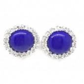 Sapphire CZ Earrings