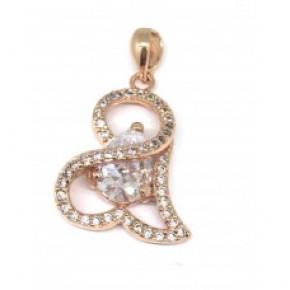 rose gold Amethyst Heart Pendant