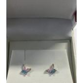Sterling Silver Cz butterfly  Earrings