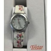 Girls White Flower Watch