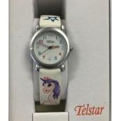 Girls White Unicorn Watch
