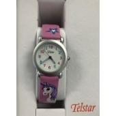 Girls Pink Unicorn Watch