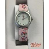 Girls Pink Flower Watch