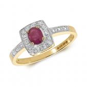 Diamond & RubyEmerald Ring