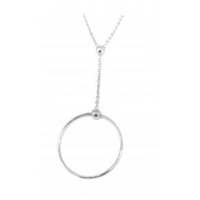 Antica Silver Circle Pendant