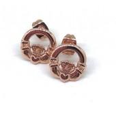 Antica Rose Gold Claddagh Earrings