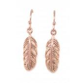 Antica Rose Feather Drop Earrings