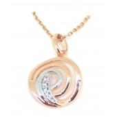 Antica Swirl CZ Rose Gold Pendant
