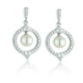 Paul Costelloe Sterling Silver Pearl Drop Earrings