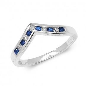 9k Diamond  Wishbone Ring