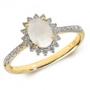 Diamond Opal Ring