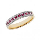 Diamond Eternity with Ruby