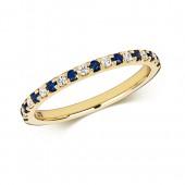 9k Diamond Sapphire Ring