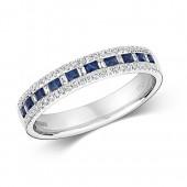18k Diamond Sapphire Ring