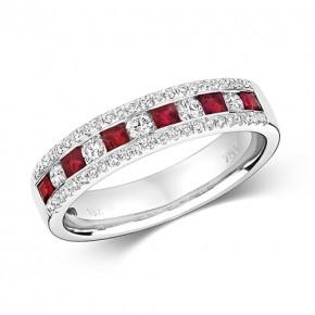 18k Diamond RubyRing