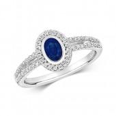 18k Diamond SapphireRing