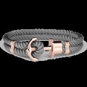 Anchor Bracelet PHREP IP Rose Gold Nylon Grey