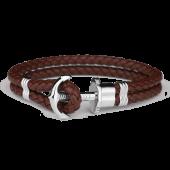 Anchor Bracelet PHREP Stainless Steel Brown