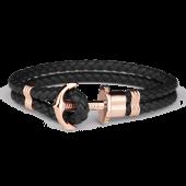 Anchor Bracelet PHREP IP Rose Gold Black