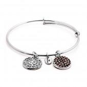 Garnet Crystal Expandable Bracelet