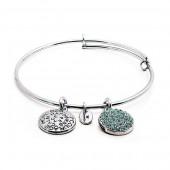 Aquamarine Crystal Expandable Bracelet