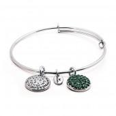 Emerald Crystal Expandable Bracelet