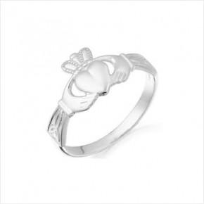 Sterling Silver Claddagh Ring Celtic Side Design