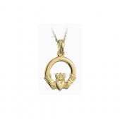10ct Gold Claddagh pendant