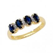 Diamond & 4 Oval Sapphire