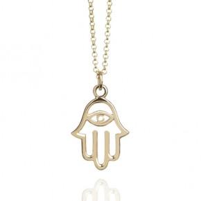 Talisman Hamsa necklace gold vermeil