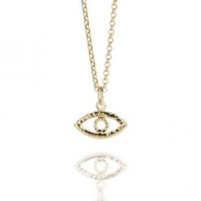 Talisman Evil Eye Necklace Gold Vermeil