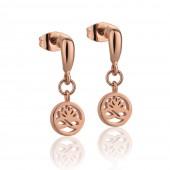 Rosegold plate Stud Earrings