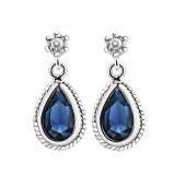Drop Earrings Blue Stone