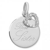 "Sterling Silver ""BEST SISTER"" Pendant"