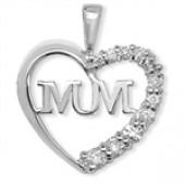 "Sterling Silver ""MUM"" Pendant"