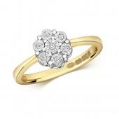 9ct DIAMOND ILLUSION CLUSTER