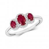 Diamond  Ruby Ring