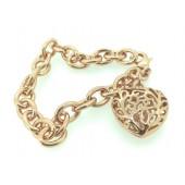 Antica Rose Gold Heart Bracelet