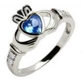 December Birsthstone Claddagh Ring