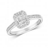 DIAMOND CLUSTER RING EMERALD